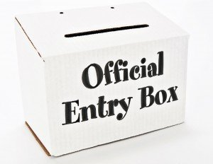 entry box for sweepstakes drawing