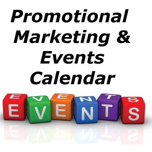 promotional marketing events calendar
