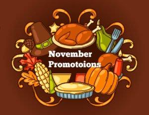November Promotional Ideas