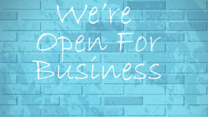 Open For Business -Small Business Saturday